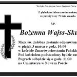 Pogrzeb Bożenny Wajss-Skuza
