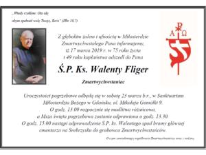 Ostatnie pożegnanie Ojca Walentego Fligera CR